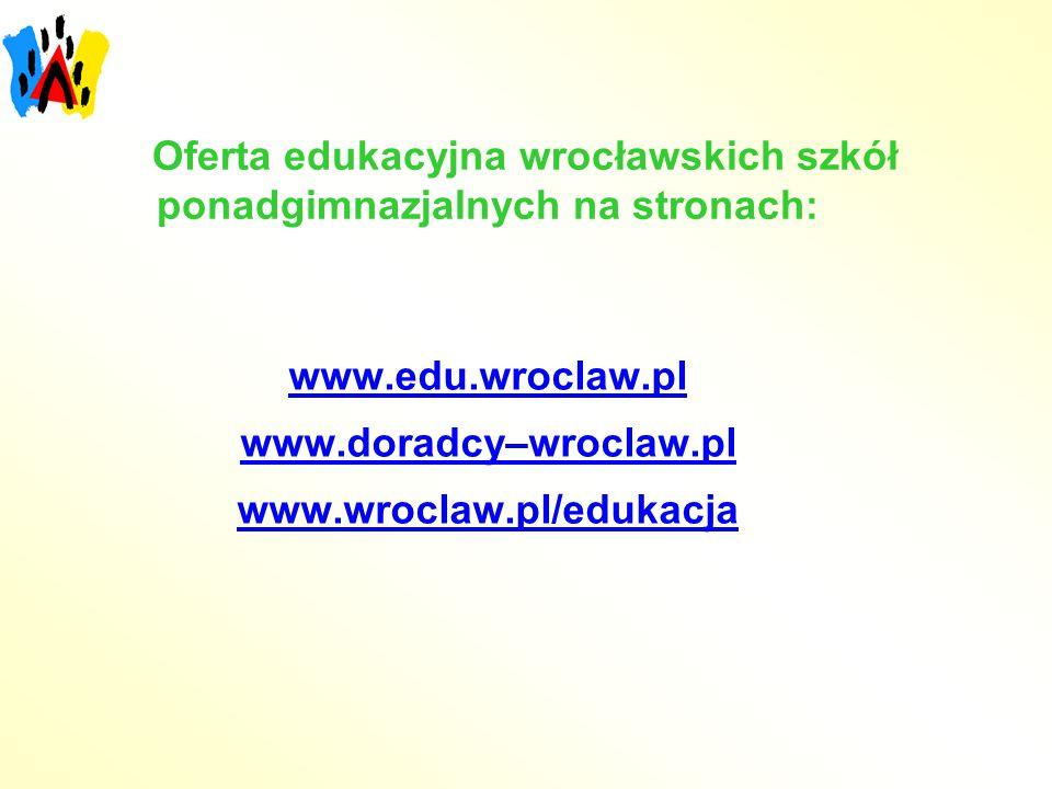 Oferta edukacyjna wrocławskich szkół ponadgimnazjalnych na stronach: