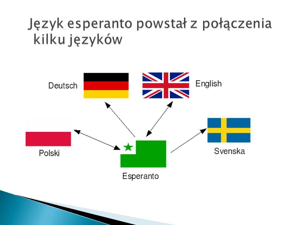 Język esperanto powstał z połączenia kilku języków