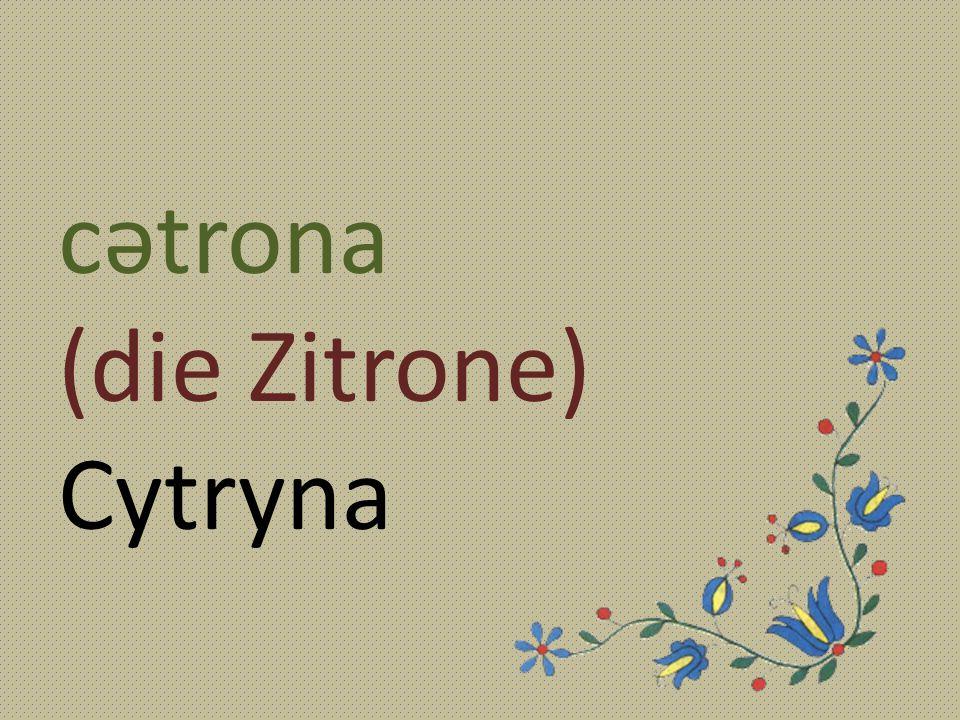 cətrona (die Zitrone) Cytryna