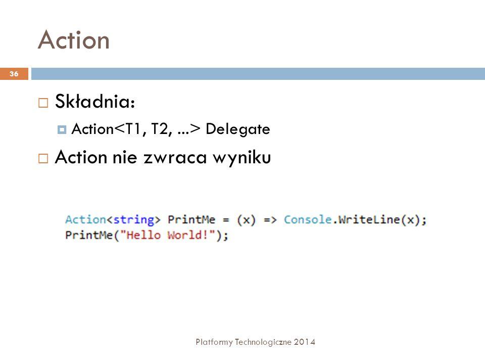 Action Składnia: Action nie zwraca wyniku