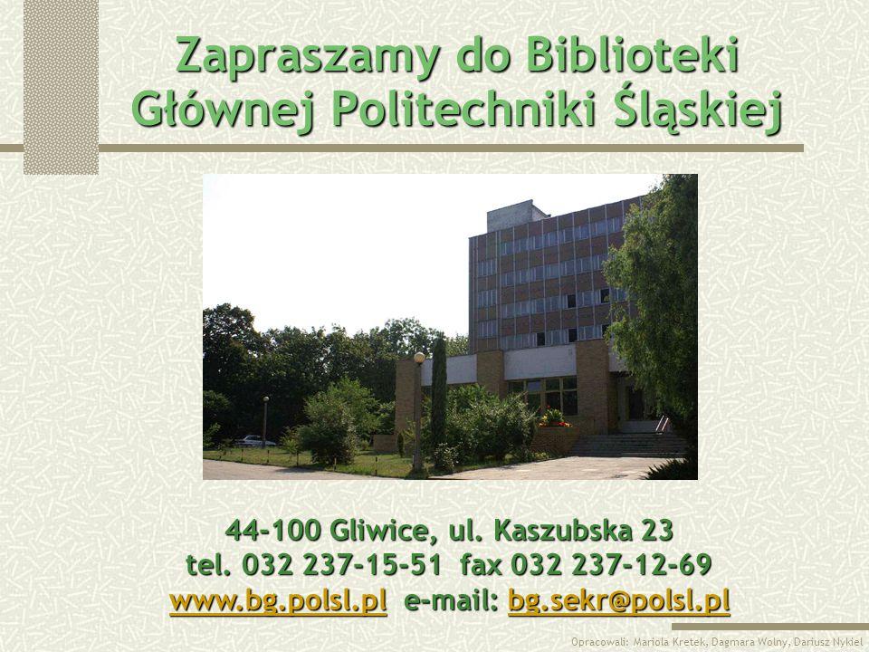 Zapraszamy do Biblioteki Głównej Politechniki Śląskiej