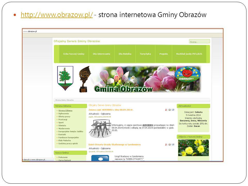 http://www.obrazow.pl/ - strona internetowa Gminy Obrazów