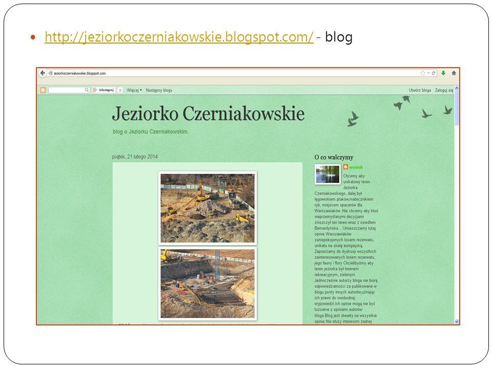 http://jeziorkoczerniakowskie.blogspot.com/ - blog