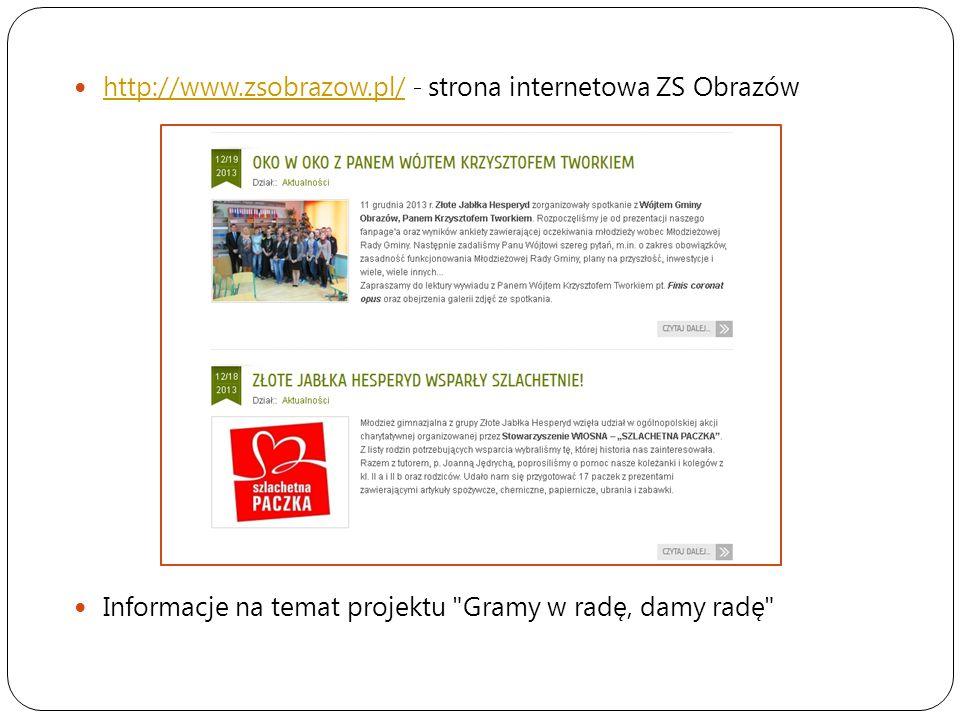 http://www.zsobrazow.pl/ - strona internetowa ZS Obrazów