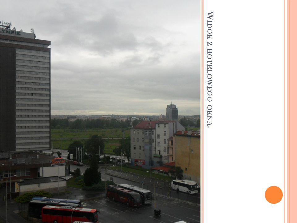 Widok z hotelowego okna.