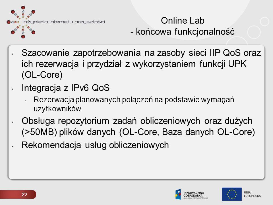Online Lab - końcowa funkcjonalność