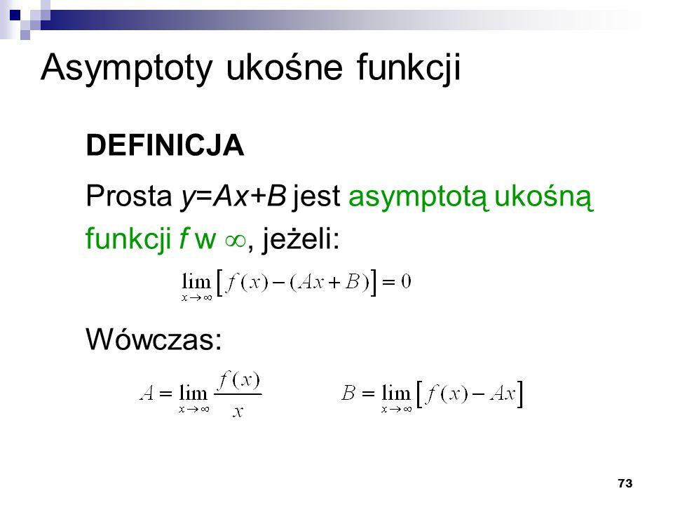 Asymptoty ukośne funkcji