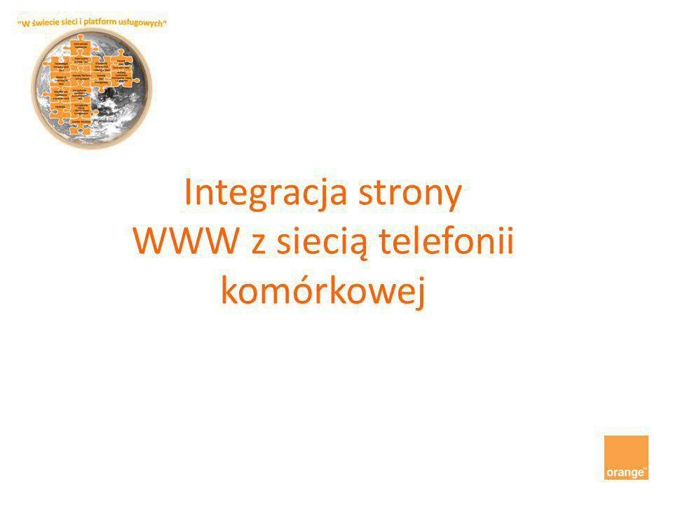 Integracja strony WWW z siecią telefonii komórkowej