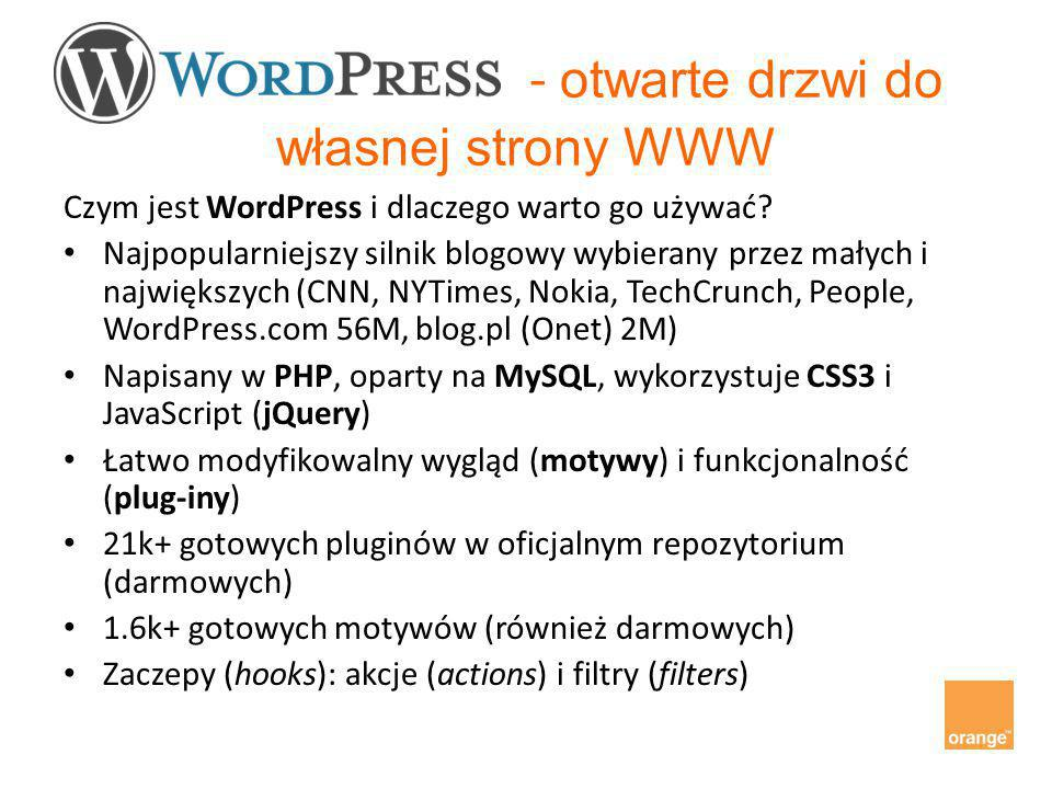 - otwarte drzwi do własnej strony WWW