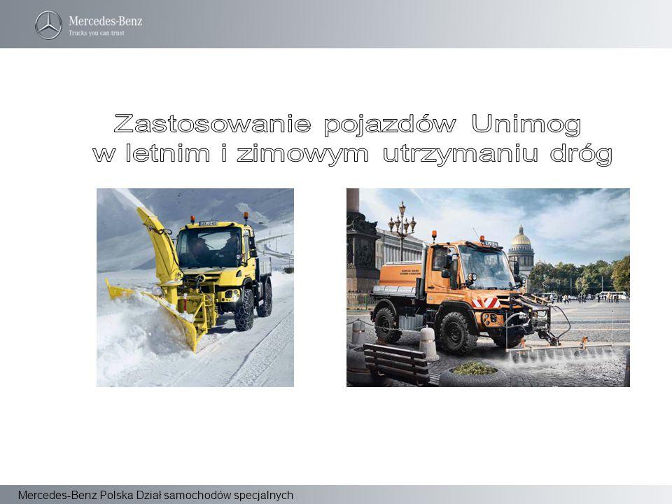 Zastosowanie pojazdów Unimog w letnim i zimowym utrzymaniu dróg