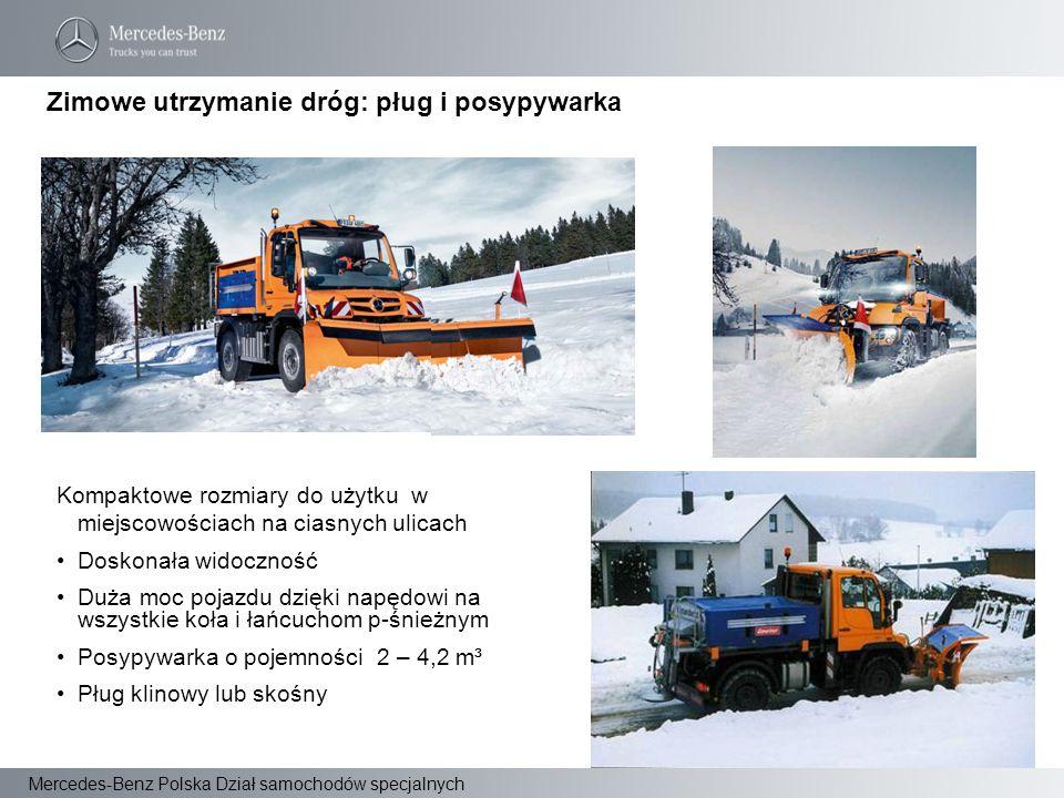 Zimowe utrzymanie dróg: pług i posypywarka