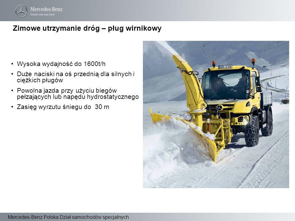 Zimowe utrzymanie dróg – pług wirnikowy
