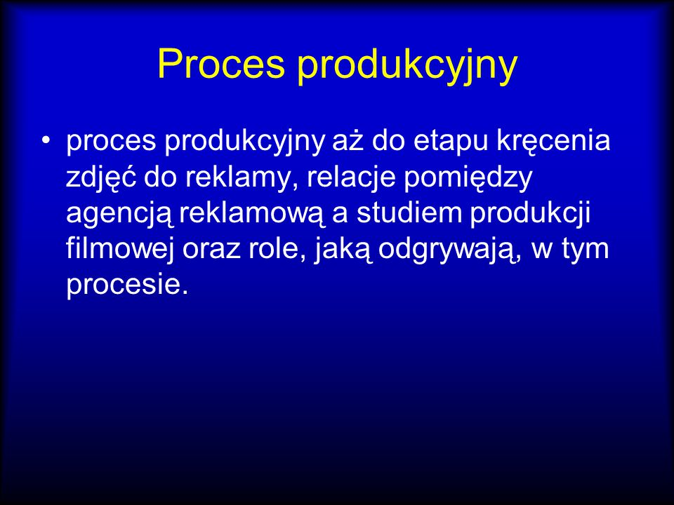 Proces produkcyjny