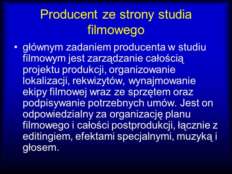 Producent ze strony studia filmowego