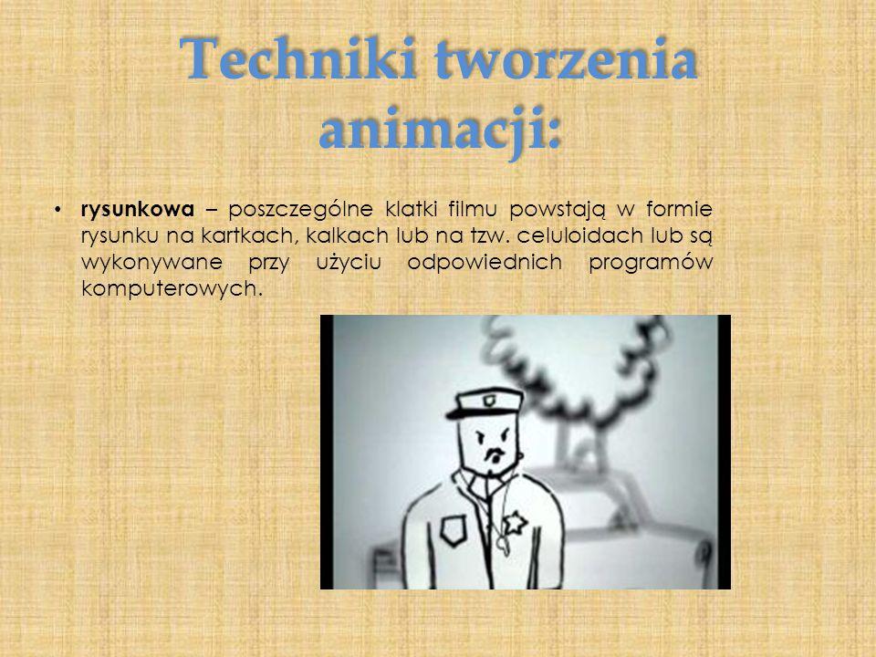 Techniki tworzenia animacji: