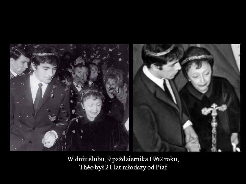 W dniu ślubu, 9 października 1962 roku,