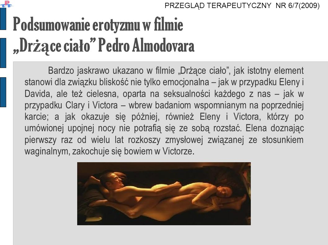 """Podsumowanie erotyzmu w filmie """"Drżące ciało Pedro Almodovara"""