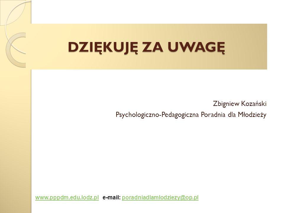Zbigniew Kozański Psychologiczno-Pedagogiczna Poradnia dla Młodzieży