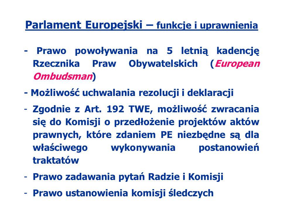 Parlament Europejski – funkcje i uprawnienia