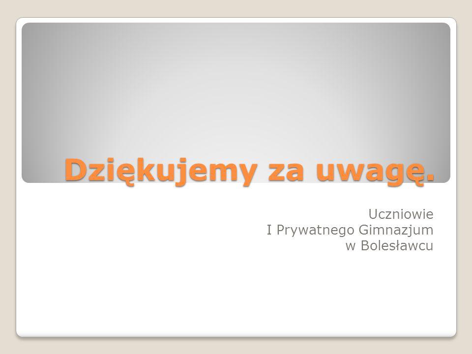 Uczniowie I Prywatnego Gimnazjum w Bolesławcu