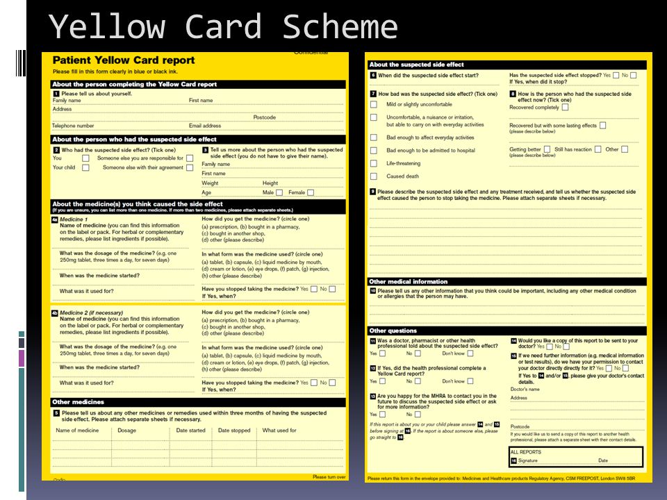 Yellow Card Scheme