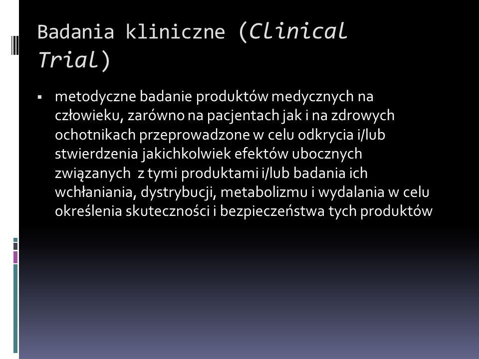 Badania kliniczne (Clinical Trial)