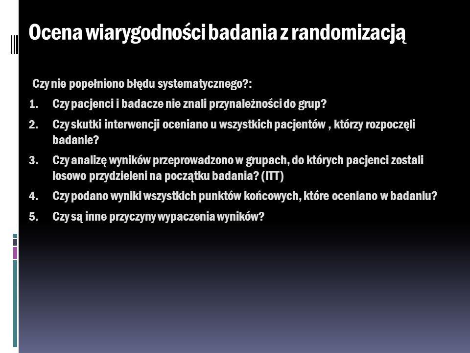 Ocena wiarygodności badania z randomizacją