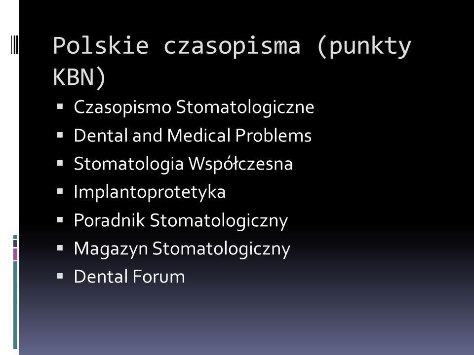 Polskie czasopisma (punkty KBN)