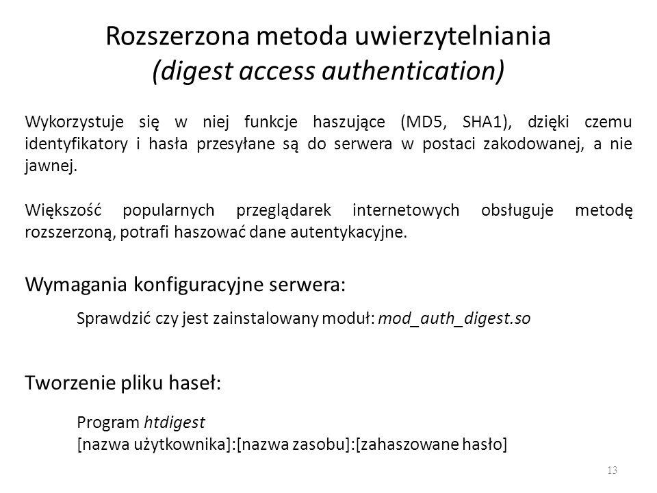 Rozszerzona metoda uwierzytelniania (digest access authentication)