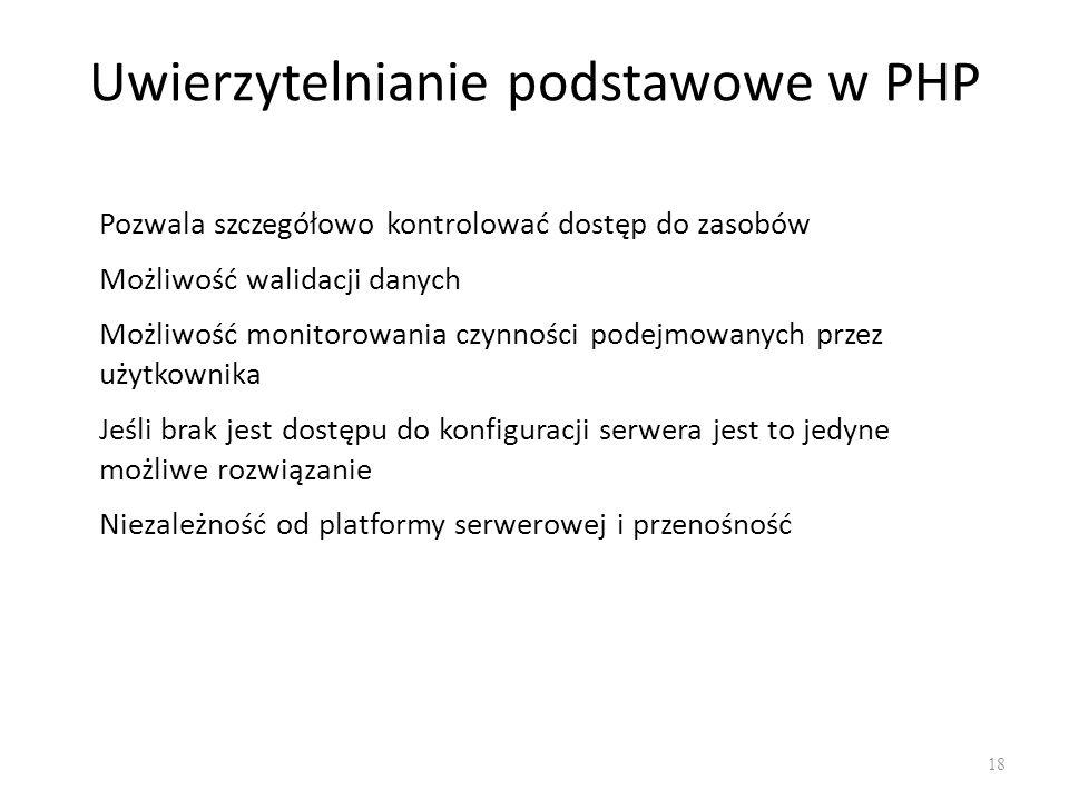 Uwierzytelnianie podstawowe w PHP