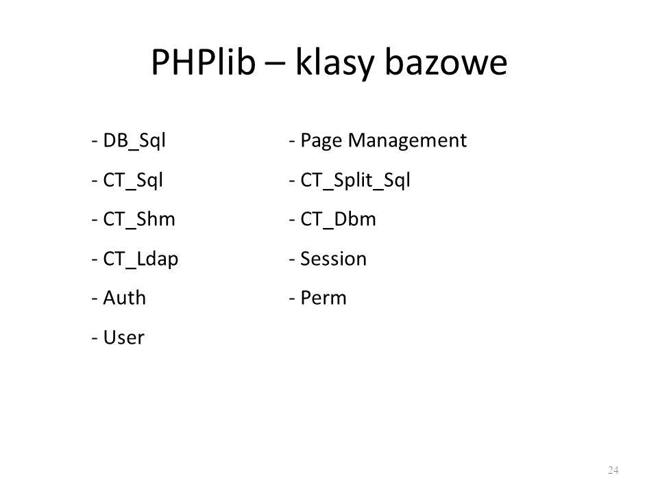 PHPlib – klasy bazowe - DB_Sql - Page Management