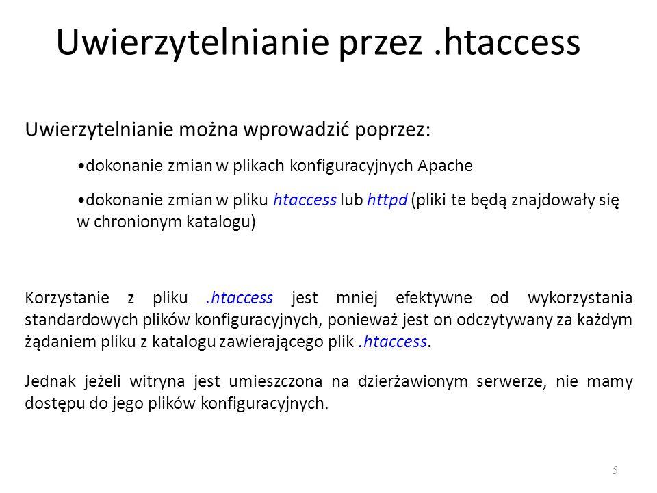 Uwierzytelnianie przez .htaccess