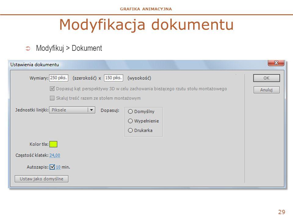 Modyfikacja dokumentu