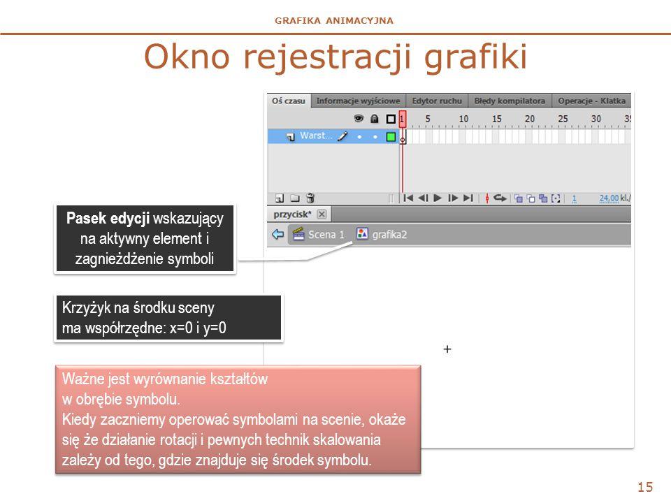 Okno rejestracji grafiki