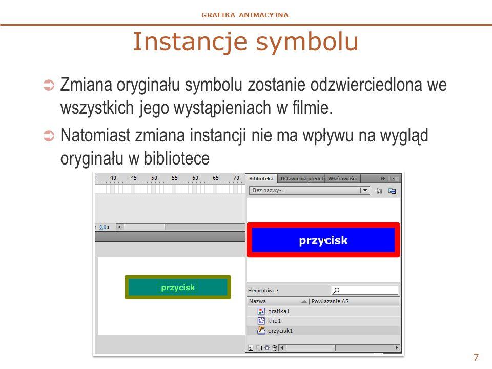 Instancje symbolu Zmiana oryginału symbolu zostanie odzwierciedlona we wszystkich jego wystąpieniach w filmie.