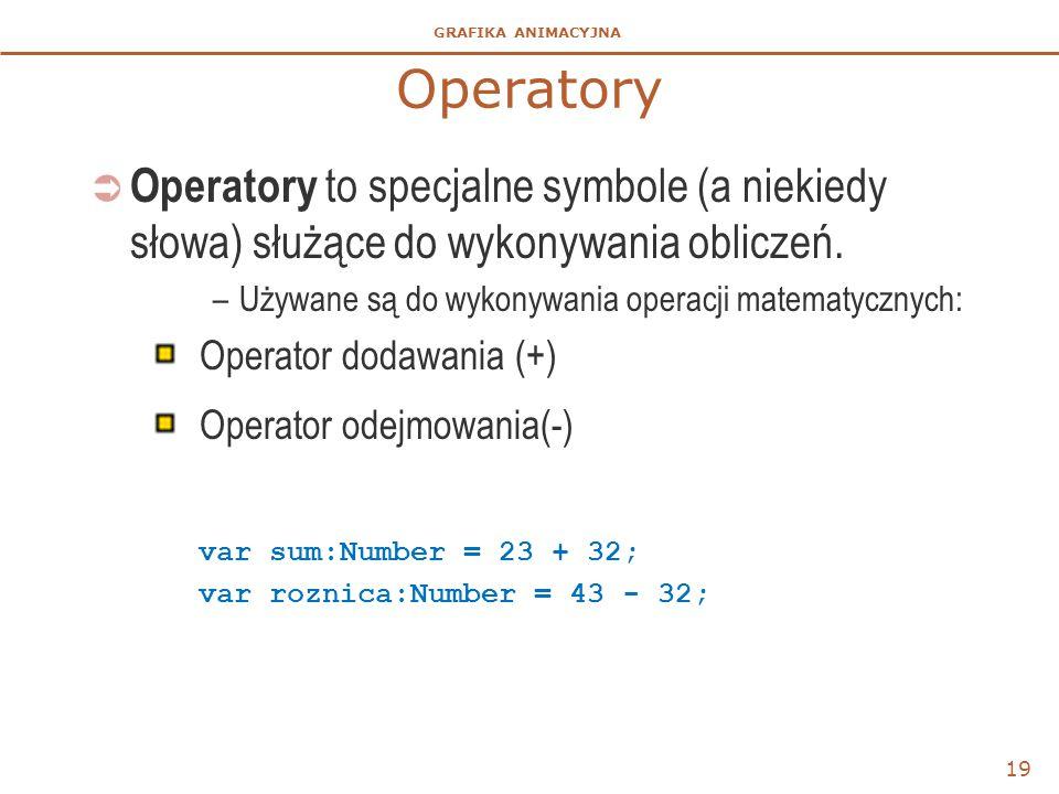 Operatory Operatory to specjalne symbole (a niekiedy słowa) służące do wykonywania obliczeń. Używane są do wykonywania operacji matematycznych:
