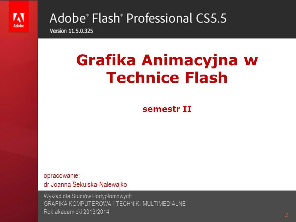 Grafika Animacyjna w Technice Flash semestr II