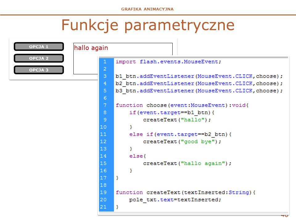 Funkcje parametryczne