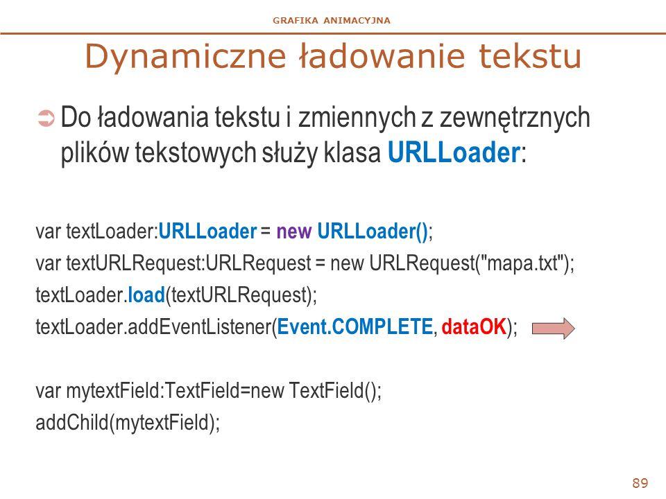 Dynamiczne ładowanie tekstu