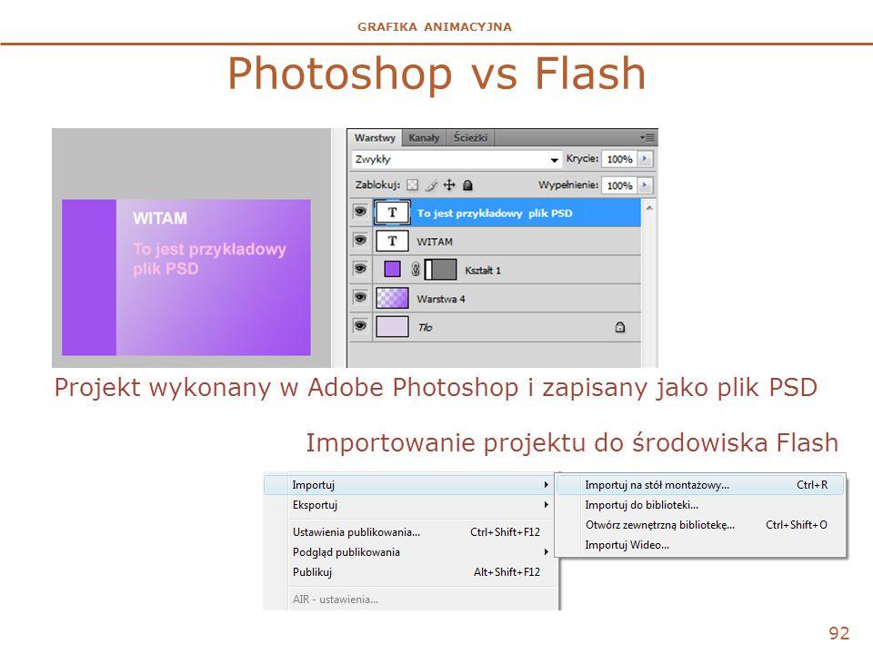 Photoshop vs Flash Projekt wykonany w Adobe Photoshop i zapisany jako plik PSD.