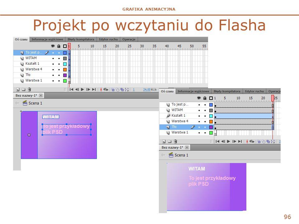 Projekt po wczytaniu do Flasha