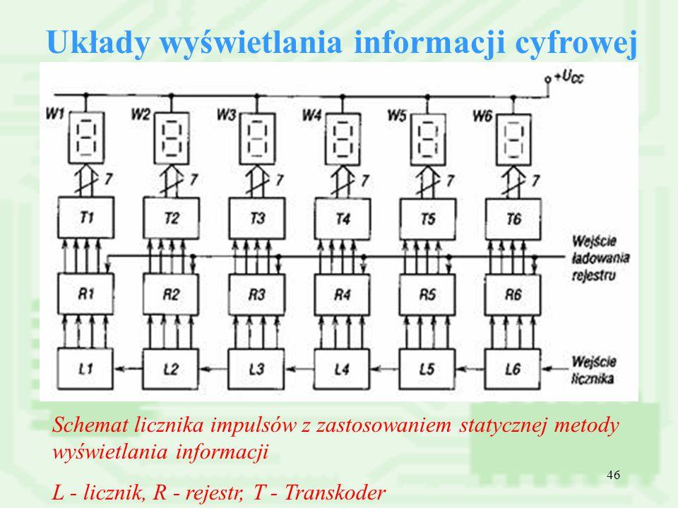 Układy wyświetlania informacji cyfrowej