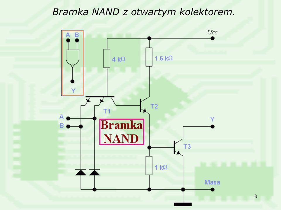 Bramka NAND z otwartym kolektorem.