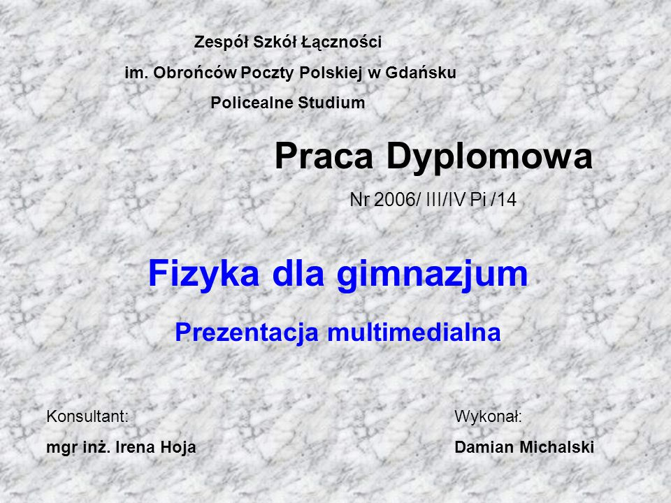 Zespół Szkół Łączności im. Obrońców Poczty Polskiej w Gdańsku