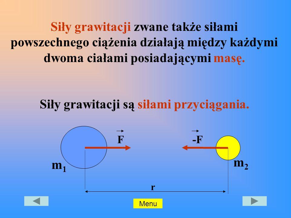 Siły grawitacji są siłami przyciągania.