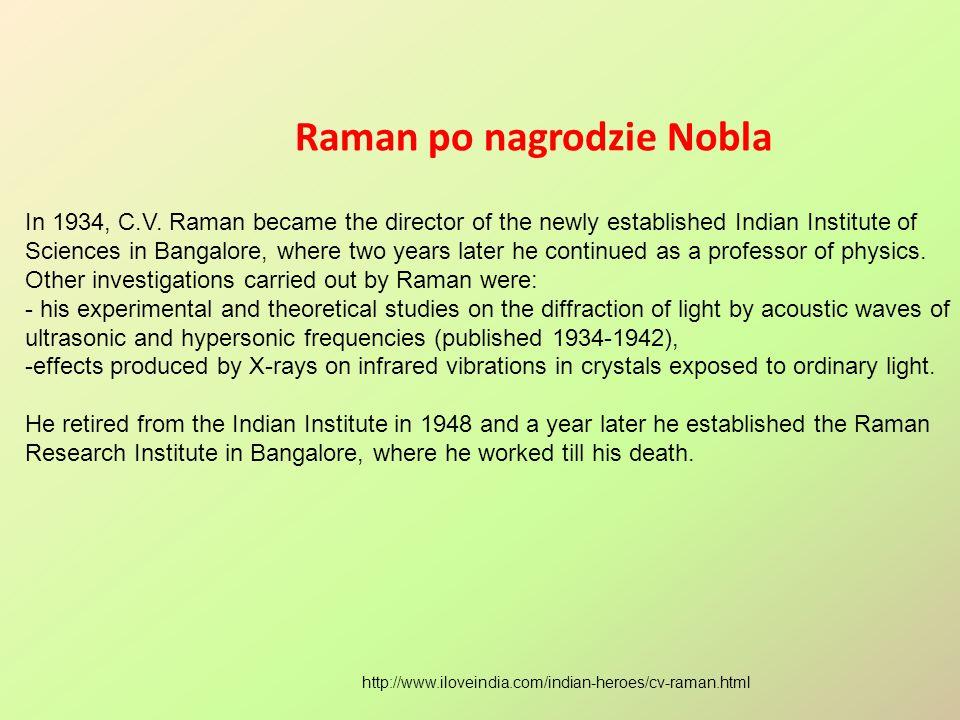 Raman po nagrodzie Nobla