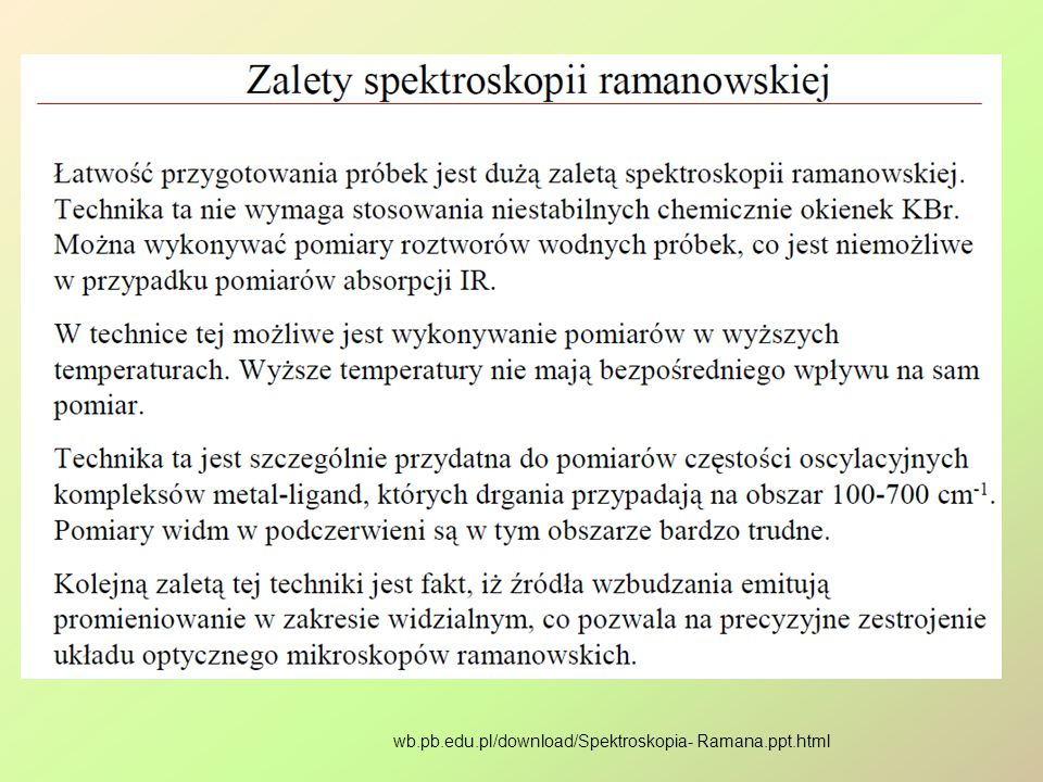 wb.pb.edu.pl/download/Spektroskopia- Ramana.ppt.html