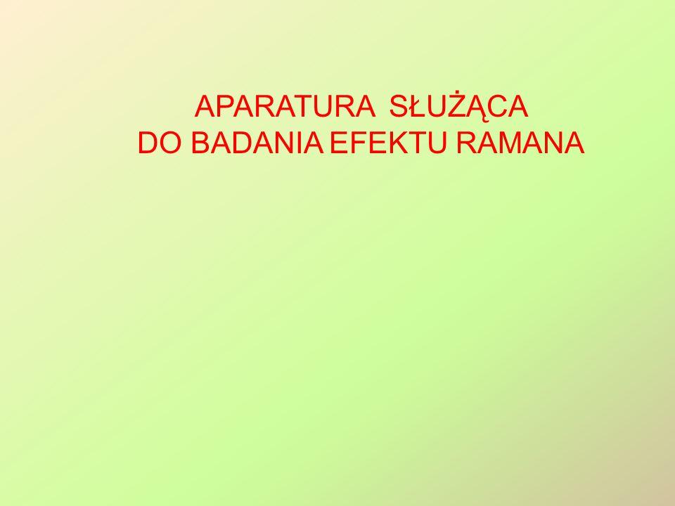 Aparatura służąca do badania efektu Ramana