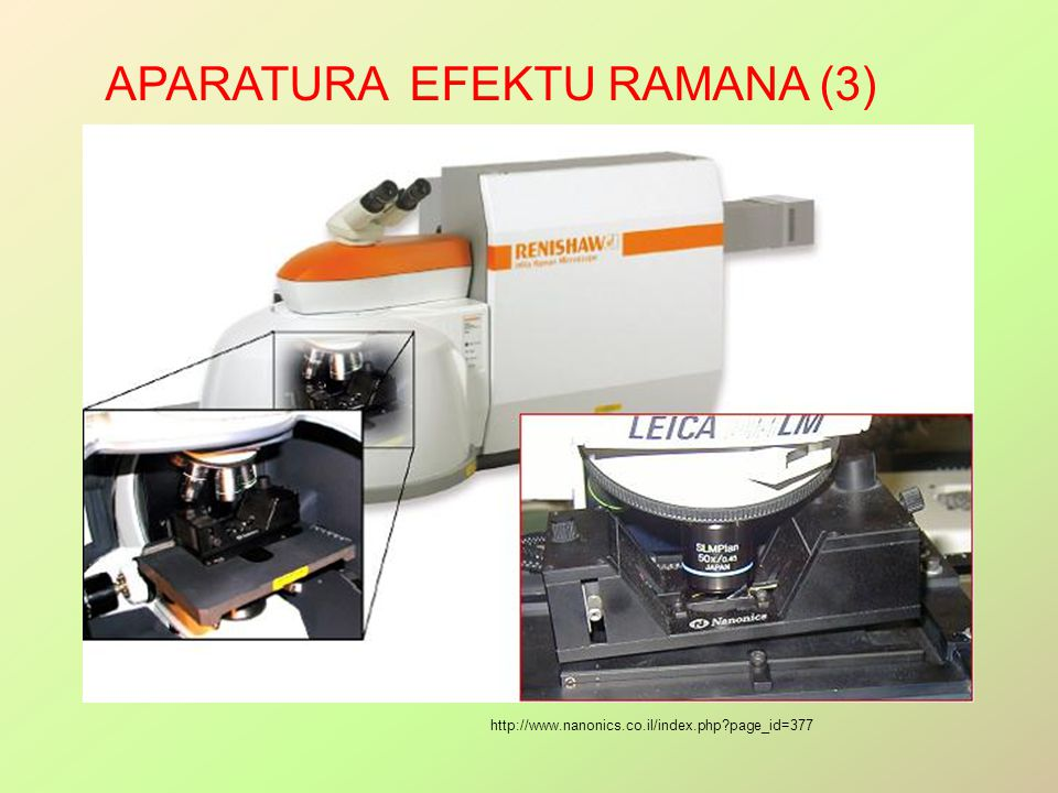 Aparatura efektu Ramana (3)