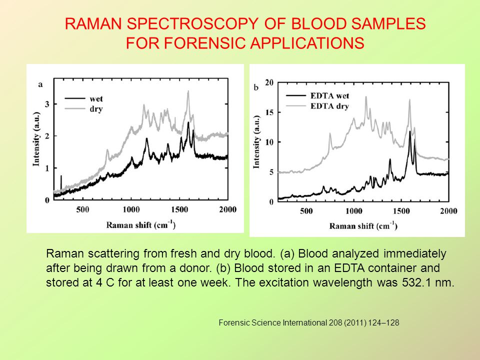 Raman spectroscopy of blood samples for forensic applications